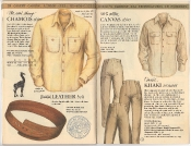 Banana Republic Catalog 17 Winter 1984, Chamois Shirt, British Leather Belt, Canvas Shirt, Khaki Trouser