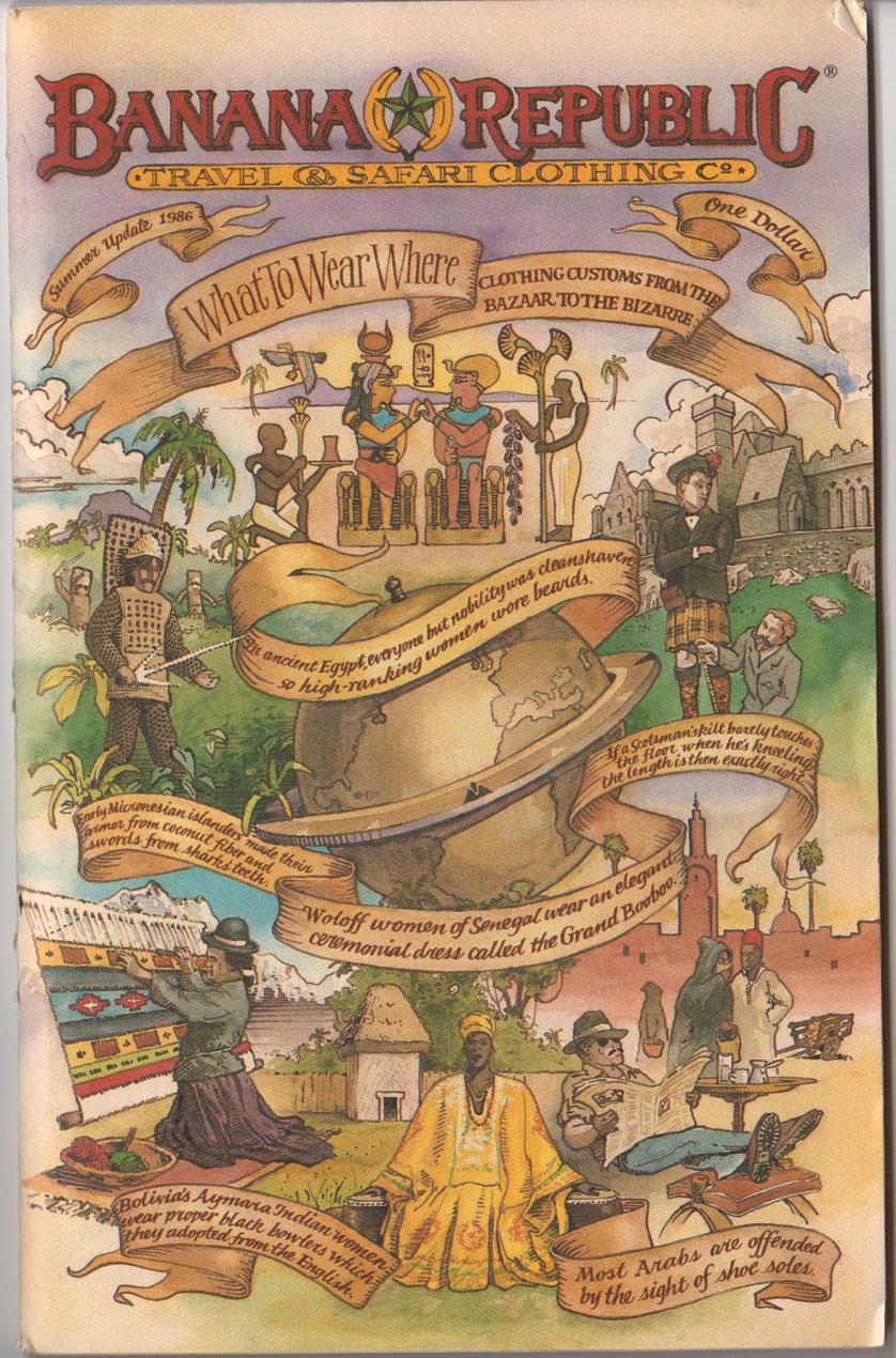 Banana Republic Catalog Summer 1986 Cover Uncredited