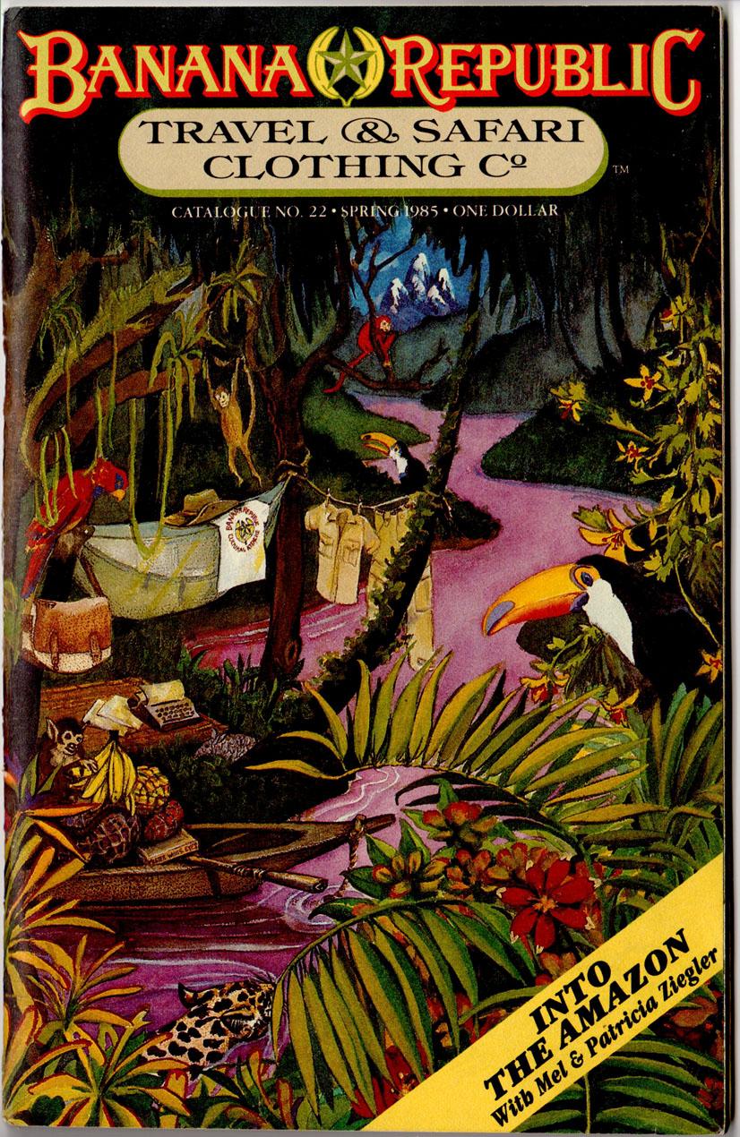 Banana Republic Catalog 22 Spring 1985 Cover by Patricia Ziegler