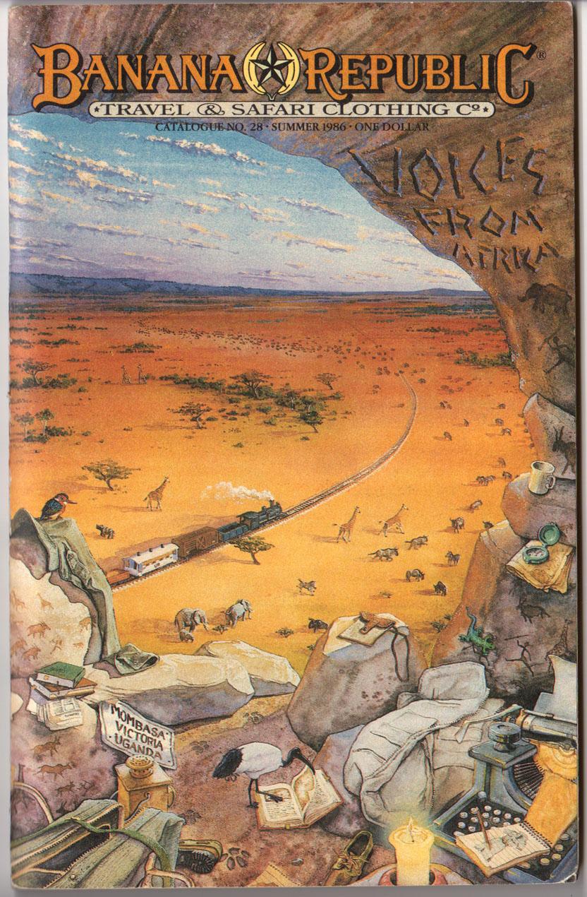 Banana Republic Catalog 28 Summer 1986 Cover by Rob Stein