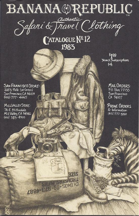Banana Republic Catalog #12 1983 by Kevin Sarkki