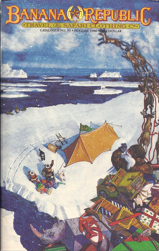 Banana Republic Catalog #30 Holiday Update 1986 Chester Arnold
