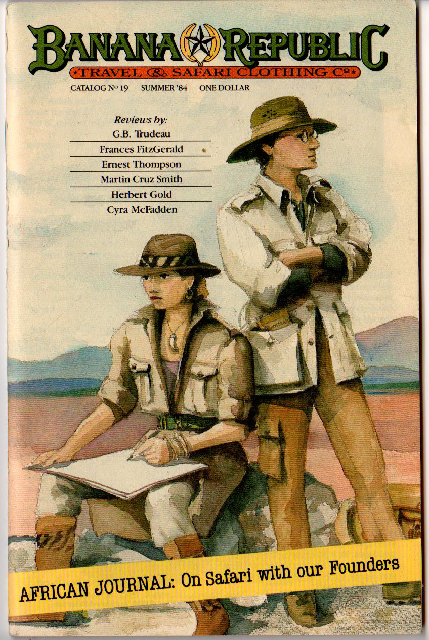 Banana Republic Catalog 19 Summer 1984 Cover by Patricia Ziegler