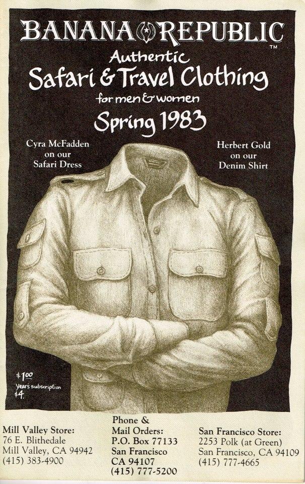 Banana Republic Catalog Spring 1983