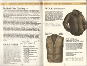 Banana Republic Catalog #15 Fall 1983 Introduction, Wool Windbreaker, Musician's Vest