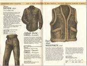 Banana Republic Catalog #15 Fall 1983 Sierra Denim Shirt, Drill Trousers, Sheepskin Vest