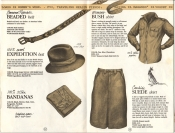 Banana Republic Catalog #15 Fall 1983 BR Beaded Belt, Expedition Hat, Bandanas, Women\'s Bush Shirt, Cowhide Suede Skirt