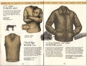 Banana Republic Catalog #15 Fall 1983 Yukon Shirt, Ragg Wool Vest, Open Cockpit Aviator Jacket