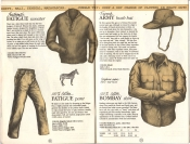 Banana Republic Catalog #15 Fall 1983 Fatigue Sweater, Fatigue Pants, French Army Bush Hat, Bombay Shirt