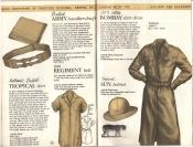 Banana Republic Catalog #15 Fall 1983 British Army Handkercheifs, Regiment Belt, British Tropical Shirt, Bombay Shirt Dress, Sun Hat