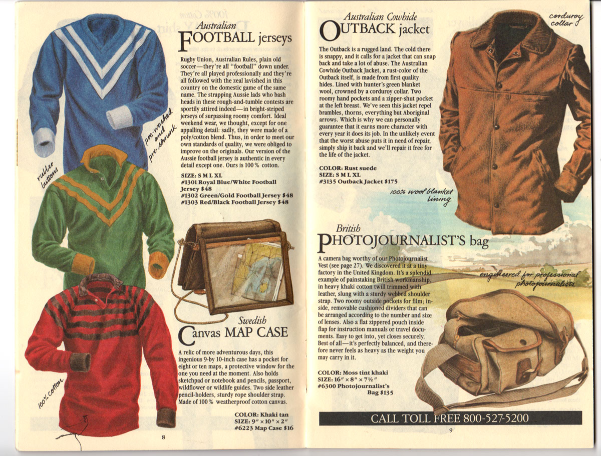 Banana Republic Fall UPDATE 1984 Football Jerseys, Map Case, Outback Jacket, Photojournalist\'s Bag