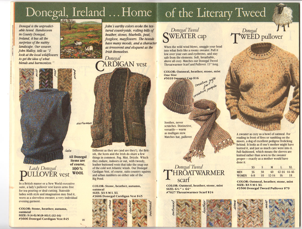Banana Republic Fall UPDATE 1984 Donegal Tweed, Pullover Vest, Cardigan Vest, Sweater Cap, Tweed Pullover, Throatwarmer Scarf