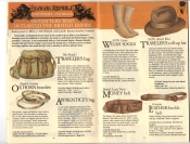 Banana Republic Fall UPDATE 1984 Mr Brady's Traveler's Bag, Ox Horn Bracelets, Apprentice's Bag, Welsh Socks, Money Belt, Traveler's Roll-Up Hat, Leather Buckle Belt