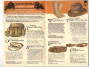 Banana Republic Fall UPDATE 1984 Mr Brady's Traveler's Bag, Ox Horn Bracelets, Apprentice's Bag, Welsh Socks, Money Belt, Traveler's Roll-Up Hat, Leather Buckle Belt