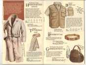 Banana Republic Fall UPDATE 1984 Handcrafted Raincoat, Tattersall Scarf, Hooded Bush Vest, British Regiment Belt, Gamekeeper\'s Bag