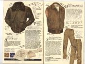 Banana Republic Fall UPDATE 1984 Goatskin Flight Jacket, Aviator's Scarf, Bush Vest, Sao Paulo Pants