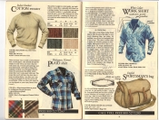 Banana Republic Fall UPDATE 1984 Indoor-Outdoor Sweater, Portuguese Plaid Flannel Shirt, White Collar Work Shirt, English Sportsman\'s Bag