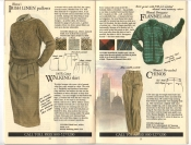 Banana Republic #20 Fall 1984 Irish Linen Pullover, Walking Skirt, Flannel Shirt, Women's Chinos