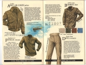 Banana Republic #20 Fall 1984 Army Air Corps Jacket, Fatigue Sweater, Bombay Shirt, Drill Trousers