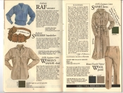 Banana Republic #20 Fall 1984 RAF Sweater, Swedish Bandolier, Women's Safari Shirt, Safari Dress, Traveler's Tropical Wool Pants,