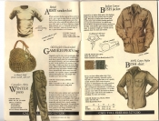 Banana Republic #20 Fall 1984 British Army Undershirt, Canadian Winter Pants, Gamekeeper's Bag, Bush Jacket, Bush Shirt