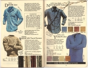 Banana Republic #20 Fall 1984 Sierra denim Shirt, American Tweed Sweater, Naturalist's Shirt, Yukon Shirt