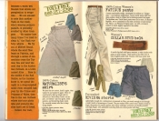 Banana Republic #25, Fall 1985 Naturalist Skirt, Women's Fatigue Pants, Collar-Stud Belt, Riviera Shorts