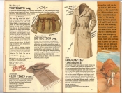 Banana Republic #25, Fall 1985 Mr. Bardy's Traveler's Bag, Apprentices Expedition Bag, Glenn-Plaid Scarf, Handcrafted Raincoat