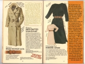 Banana Republic #25, Fall 1985 Women's Handcrafted Trenchcoat, Women's Brass Buckle Belt, Weekend Dress