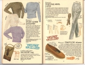 Banana Republic #25, Fall 1985 Women's Irish Linen Pullover, Document Bag, Women's Tropical Wool Pants, Traveling Shoes