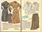 Banana Republic #25, Fall 1985 Naturalist\'s Dress, Classic White Shirt, Suede Skirt