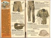 Banana Republic #25, Fall 1985 Gurkha Shorts, Swedish Bandolier, British Army Drill Trousers, Bushman's Shirt, Pith Helmet