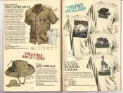 Banana Republic #25, Fall 1985 Ventilated Shirt, French Army Bush Hat, Old English Wildlife Engraving T-Shirts