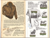 Banana Republic #26 Fall 1986 Flight Jacket, Aviator's Scarf, Wildlife Engraving T-Shirt