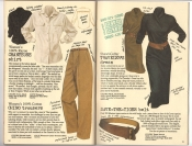 Banana Republic #26 Fall 1986 Chanteuse Shirt, Chino Trousers, Traveler\'s Dress, Save-The-Tiger Belt