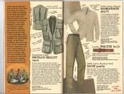 Banana Republic #26 Fall 1986 Photojournalist Vest, Houndstooth Shirt, Braided Belt, Rogue Pants