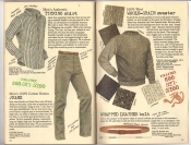 Banana Republic #26 Fall 1986 Ticking Shirt, Men's Jeans, Wool Grain Sweater, Wrapped Leather Belt