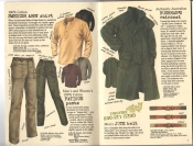 Banana Republic #26 Fall 1986 Swedish Army Shirt, Fatigue Pants, Bushman\'s Raincoat, Jute Belt