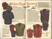 Banana Republic #26 Fall 1986 Roving Sweater, Roving Vest, Trekking Sweater