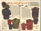 Banana Republic #26 Fall 1986 Roving Sweater, Roving Vest, Trekking Sweater