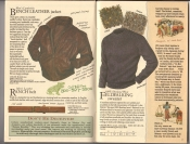 Banana Republic  Catalog #33 Fall 1987 Bench Leather Jacket, Ranch Belt, Fellwalking Sweater
