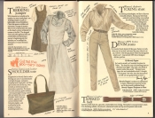 Banana Republic  Catalog #33 Fall 1987  Trekking Jumper, Shoulder Bag, Women\'s Ticking Shirt, Tapered Belt