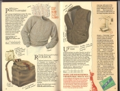 Banana Republic  Catalog #33 Fall 1987 Poet\'s Sweater, Rucksack, Up Vest
