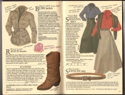 Banana Republic  Catalog #33 Fall 1987  Women\'s Bush Jacket, Ranch Boots, Savanna Skirt, Santa Fe Belt