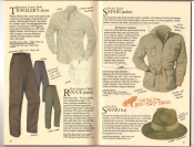 Banana Republic  Catalog #33 Fall 1987 Traveler's Shirt, Rogue Pants, Safari Jacket, Safari Hat