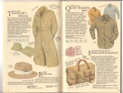 Banana Republic  Catalog #33 Fall 1987 Traveler\'s Raincoat, Safari Rai Hat, Quiet Madras Shirt, Freelance Briefcase