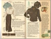 Banana Republic  Catalog #33 Fall 1987 Chanteuse Shirt, Walking Skirt, Silverado Belt, Amelia Earhart Jacket