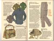 Banana Republic  Catalog #33 Fall 1987 Expedition Shirt, Correspondent\'s Bag, Jungle Fatigues, French Army Bush Hat