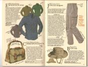 Banana Republic  Catalog #33 Fall 1987 Expedition Shirt, Correspondent\'s Bag, Jungle Fatigues, French Army Bush Hat