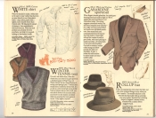 Banana Republic  Catalog #33 Fall 1987 White Shirt, Winter Tennis Vest, Garbardine Sportcoat, Roll-Up Hat